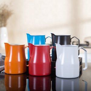 Pichet de lait en acier inoxydable Frothing - Espresso Steaming Milk Cup Frothing, Parfait pour Latte Art T200523