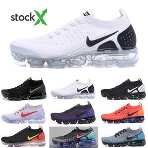 Nike Vapormax flyknit air max 2019 Knit 2.0 Fly 1.0 Uomini Donne BHM Red Orbit Metallic Gold triple nero progettisti delle scarpe da tennis degli addestratori delle scarpe da corsa