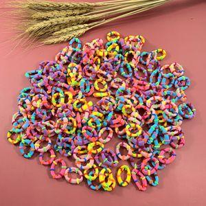 20PCS 2cm Lovely Baby Children Fashion Hair Band Rainbow Mini Rubber Band Headband Girls Elastic Hair Bands Hair Accessories