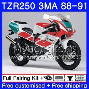 Cuerpo para YAMAHA TZR250RR RS RR YPVS TZR250 88 89 90 91 244HM.19 TZR-250 TZR250 3MA TZR 250 1988 1989 1990 1991 Carenado Stock rojo blanco kit