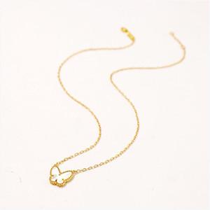 Gioielli Collana animale collana del maglione placcata oro coreano calda della Rosa collana a catena Fortunati di cristallo farfalla lunga catena