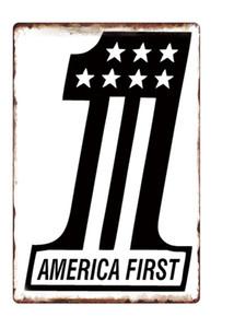 Trump 2020 Metal Tabela 20 * 30 Cm Retro Renkli Amerikan Bayrağı Duvar Dekorasyon Demir İşaretler DHF507 Boyama