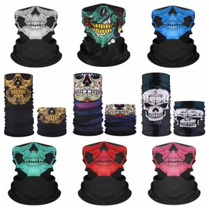 Skull Cycling Scarf Hip Hop Bandanas Seamless Magic Scarves Outdoor Sports Headwear Hiking Mask Neckwear 29 Designs DW5365