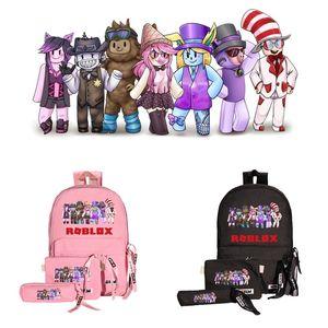 3Pcs / set Zaino Roblox con cartella astuccio, regali per appassionati di giochi, borsa per zaino per laptop bookbag per studenti
