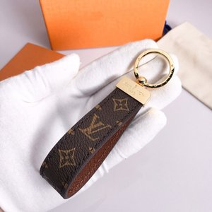 Classic Fashion Handmade Leather Car Keychain Women Bag Charm Pendant Accessories with box V661