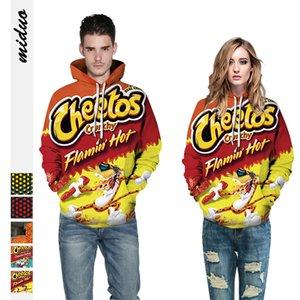 New 3D Horror Impresso Halloween Crânio Hoodies Cosplay Homens Mulheres Hip Hop Hoodie Pullovers Streetwear Cheetos Snacks Moletons 2019