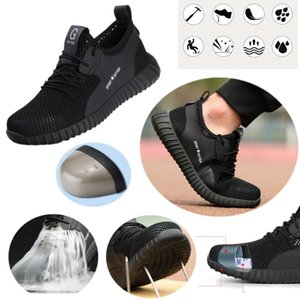 Safety Shoe Mens Women Mesh surface Steel Toe Cap Sport Outdoor Work Hiking Trail Breathable Shoes Protective Footwear Trainers Ankle Boots