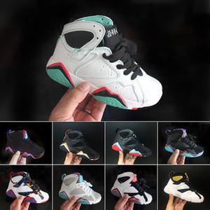 Nike Air Jordan 7 2019 Kids 7 7s 올림픽 땜장이 얼터너티브 랩터 Hares J7s Boys Girls 청소년 농구 화 hildren 운동화 Size EUR 28-35