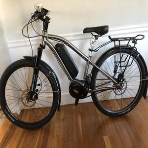 Новый разработан титановый жира велосипед рама с Bafang мостом / коробка передач Shimano электрический корпус рама Электрический велосипед