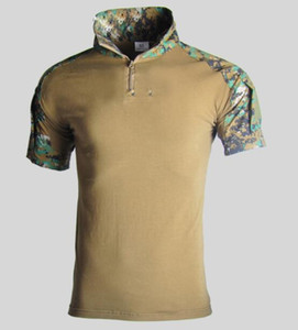 Assault Camouflage Tactical T-Shirt Men Short Sleeve US Army Frog Combat Tees Shirt Summer Multicam Airsoft Shirts Tactical Polos