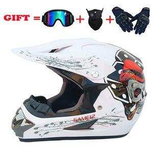 Motorcycle cross-country helmet four season helmet men's mountain bike small cross-country full goggle mask gloves
