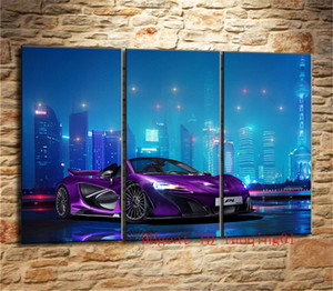 Mclaren Luxury Car , 3P Canvas Pieces Home Decor HD Printed Modern Art Painting on Canvas (Unframed Framed)