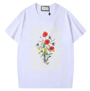 Diseño de moda de verano camisetas para los hombres Tops del estampado de flores camiseta para hombre de manga corta ropa clásica camiseta de las mujeres tapas M-2XL