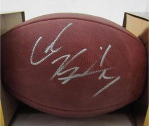Kapı Futbol topu dışarı COLIN KAEPERNICK İmzalı Signed signatured ABD Amerika rugby Milli Lig spor kapalı /