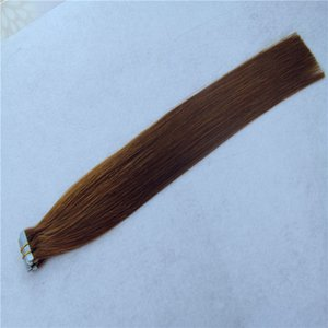 Dark Brown Color Tape In Extensions Human Hair PU Tape Seamless Skin Weft 10-34 Inchs 9A Unprocessed Hair Extensions