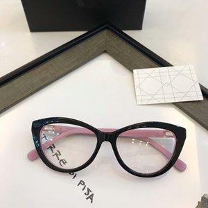 وأنيقة DC3569 جديد وسيدة أنيقة لوحة نقية صغيرة عين القط جودة النظارات إطار مجموعة كاملة من GalSSSES حالة وصفة طبية 54-16-140