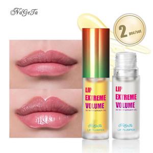 NAGETA Lip plumper set zenzero menta piperita Lip olio migliora paffuto labbra cura strumento essenza olio balsamo per le labbra pianta essenza
