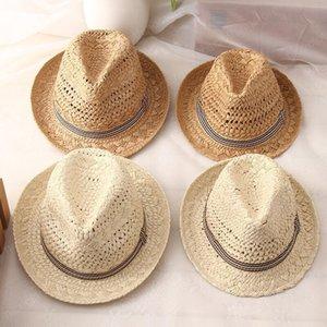 chapéu Chapéu de Sol Boho Praia Fedora New Moda Handwork Mulheres Verão Ráfia palha Sunhat Trilby Homens Panama Gangster Cap Hat