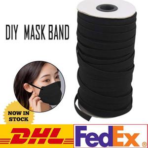 DHL UPS nave! 109 Yards Lunghezza 1/8 1/6 1 / 4in larghezza del cavo intrecciata fascia elastica fai da te a maglia banda cucito Usato per maschere FY7005