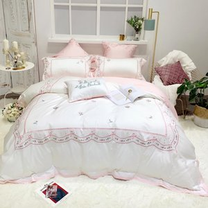 Chinese Troditional Embroidery 1.8m 4pcs Bedding Set Free Shipping 100% Cotton Countryside Concise Quilt Cover Girls lovely Gift