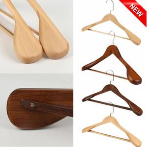 1PC 나무 옷걸이 옷 고급 넓은 어깨 나무 옷걸이-단단한 나무 정장 옷걸이 홈 조직 옷걸이 YL5