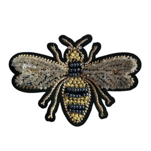 Handmade Bead Bee Beaded Patch For Clothing Sew On Beading Applique Clothes Shoes Bags Decoration Patch Diy Apparel