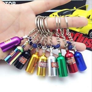 NOS Turbo Nitrogen Bottle Metal Key Chain Key Ring Holder Car Keychain Pendant Jewelry for Women Men Unique mini keyring