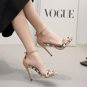 2019 Designer women high heels party fashion rivets girls sexy pointed shoes Dance shoes wedding shoes Double High with open toe sandals