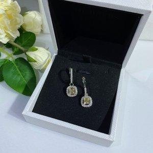 Diamgello dell'orecchino dell'orecchino del lampadario del diamante giallo del diamante del diamante del diamante del diamante del diamante 925 delle donne di fidanzamento delle donne del diamante 925