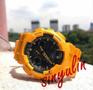 Спортивные часы шок мужские светодиодный цифровой водонепроницаемый военный многофункциональный спортивный роскошные мужские наручные часы лучшие продажи Оптовая продажа 100 Смотреть