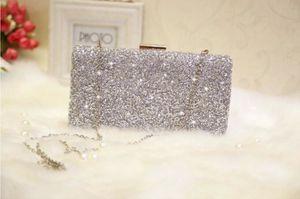 الكريستال الماس النساء مساء الكتف حقيبة حزب حفلة موسيقية الزفاف سيدة مخلب مغلف حقيبة يد هدية