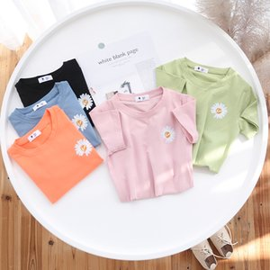 Newest Unisex Baby Summer T Shirt Cartoon Printed chrysanthemum Tops Tees Children Casual Clothing Cotton Flower T-shirt For Girls Boys.