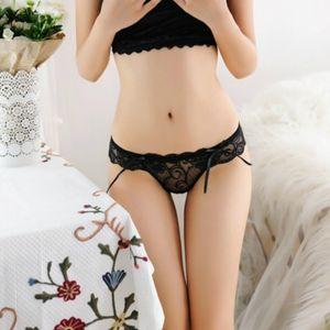 Frauen Lace Thongs Sexy G String T Zurück Lady Briefs Seamless Spandex Low Rise Transparent Frauen-Unterwäsche-5