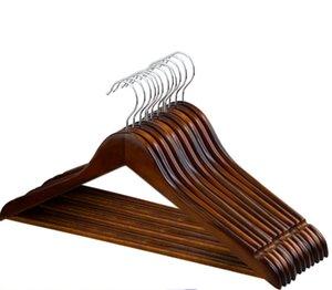 Racks Cintres Solid Hanger Manteau Cintres de rangement Ensemble de vêtements en bois multifonctionnel Wood Siskt
