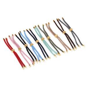 DNKAISHI 10 unids Multi Colores Doble Cuerda Twist Nylon Hilo Rosa de Oro Broche Flexible Cordón Del Encanto Para La Pulsera de la joyería