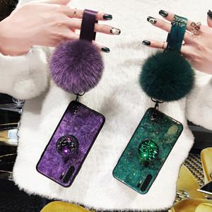 Epoxy Goldfolie Gem Telefon-Kasten für Huawei Honor P30 Pro P20 Lite P10 Nova 5 p30pro p30 liteWith Ring Ständer Halter Lanyard-Abdeckung