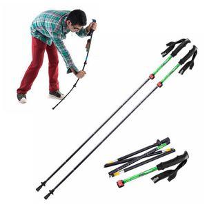 Bastoncini da passeggio con bastoncini da passeggio regolabili in 5 sezioni con impugnatura in EVA da 135 cm Bastoncini da trekking Alpenstock per alpinismo all'aperto Escursionismo ZZA940