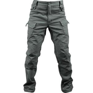 Tasarımcı Pamuk Elastik Kumaş IX7 İl Askeri Taktik Kargo Pantolon Erkekler SWAT Combat Ordu Pantolon Erkek Casual Birçok Cepler Pantolon