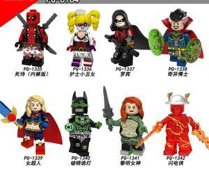Super Heroes Deadpool Harley Quinn Robin Doctor Strange Supergirl Dawnbreaker Toys PG8164 zdl0621.
