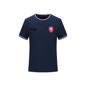 Çek Cumhuriyeti futbol tişört Yeni Stil Özel Futbol Polo Erkekler Slim Fit Golf Polo Tişört Erkek Tişört Kol polo gömlek