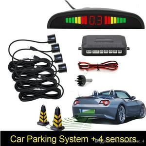 Capteur de stationnement à LED parktronic voiture de voiture avec 4 capteurs de sauvegarde inversée parking parking radar de moniteur de détecteur système de rétro-éclairage (détail)