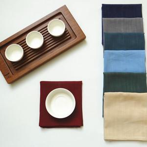 리넨 옷감 테이블 냅킨 주방 요리 사진 배경 냅킨 7 색 장식 흡수 식기 수건 냅킨 BH3234 TQQ