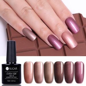 UR SUCRE 7.5ml Brown Series Gel Nail Couleur Bronze polonais élégant Soak Off Vernis Shimmer manucure Nail Art LED UV Gel Lacquer