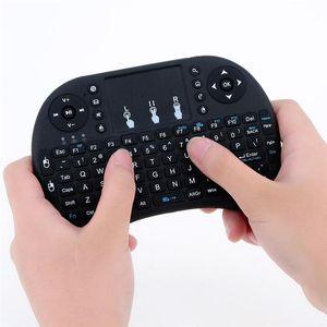 스마트 안드로이드 TV 박스 노트북 태블릿 PC 미니 무선 키보드 2.4G 영어 에어 마우스 키보드 원격 제어 터치 패드