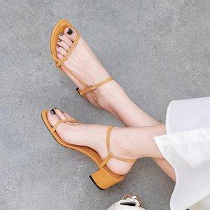 Sandales Sexy2019 Hasp avec chaussures pour femmes Fasciola Taille Une Boucle