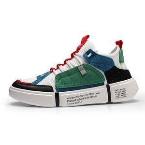 2019 novo designer de calçados esportivos casuais sapatos de moda masculina de personalidade dos homens sapatos anti-slip solas grossas de logística rapidamente