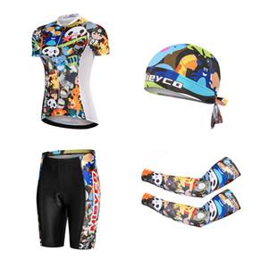 Mieyco vestiti di riciclaggio Donna completa Zipper Cycling Jersey Cartoon traspiranti bicicletta copre Estate In bicicletta MTB 2020 Jersey Bib Set