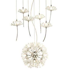 Europa lampadario di cristallo Dandelion Abbigliamento Negozio Ristorante Soggiorno G4 LED Lighting Scale Droplight lampada Fiore americana