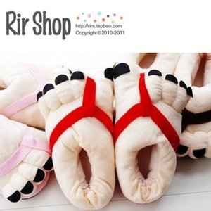 Winter big feet slippers warm Plush home large size slippers creative intimate gift personalized household products