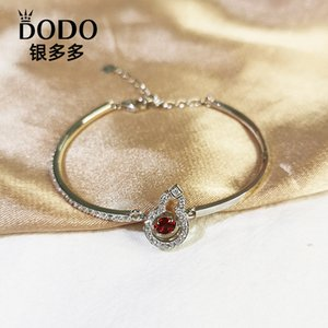 2020 New Style Lucky New Year S925 Sterling Silver Gourd Smart Bracelet Female Fashion Diamond Set Bracelet Gift Generation